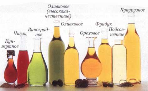 Растительные масла.